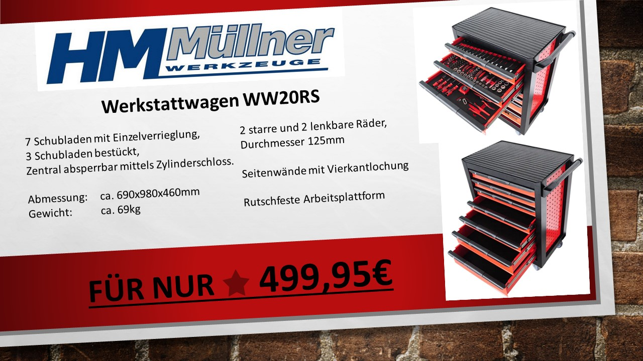 HM MÜLLNER Werkzeugwagen WW20RS